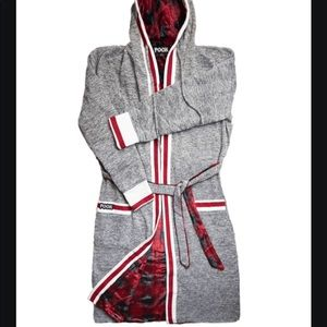 Pook reversible hooded robe house coat s/m